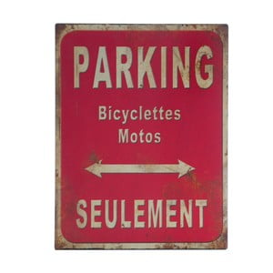 Kovová cedule Parking, 25x33 cm