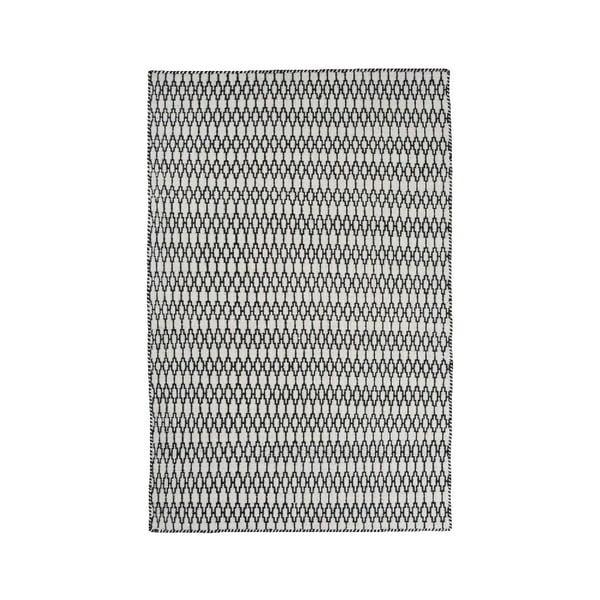 Vlněný koberec Linie Design Elliot White Black, 200x300 cm
