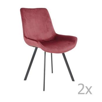 Set 2 scaune dining House Nordic Drammen, roșu de la House Nordic
