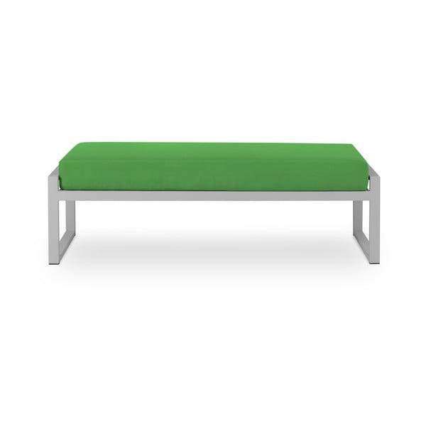 Zelená dvojmiestna vonkajšia lavica v sivom ráme Calme Jardin Nicea