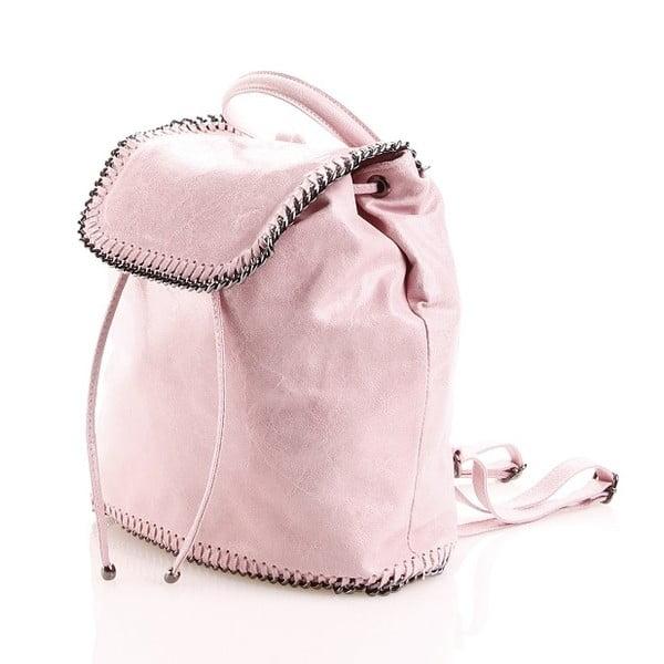 Kožený batůžek Emily, růžový