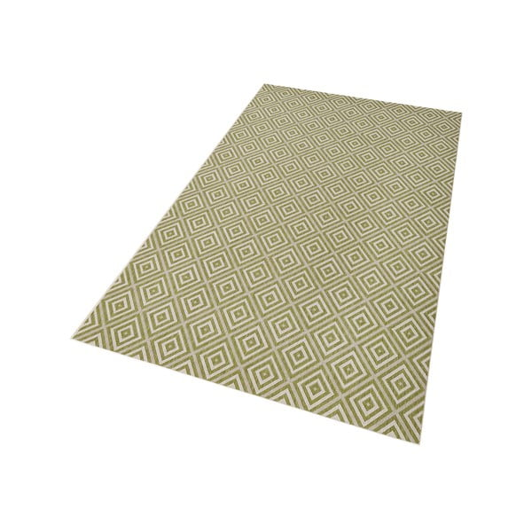 Zelený koberec vhodný i na ven Hanse Home Karo, 140x200cm