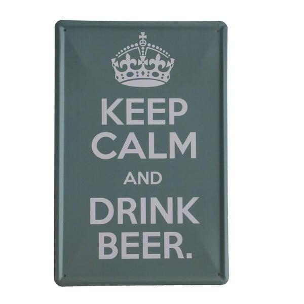 Cedule Drink Beer, 20x30 cm