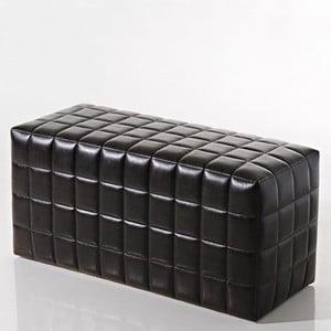Sedací puf Bakero Squares z umělé kůže, 40x100 cm