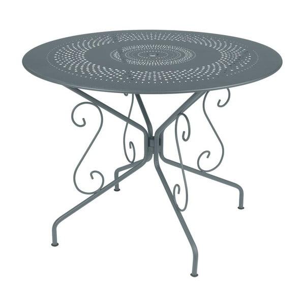 Tmavě šedý kovový stůl Fermob Montmartre, Ø96cm
