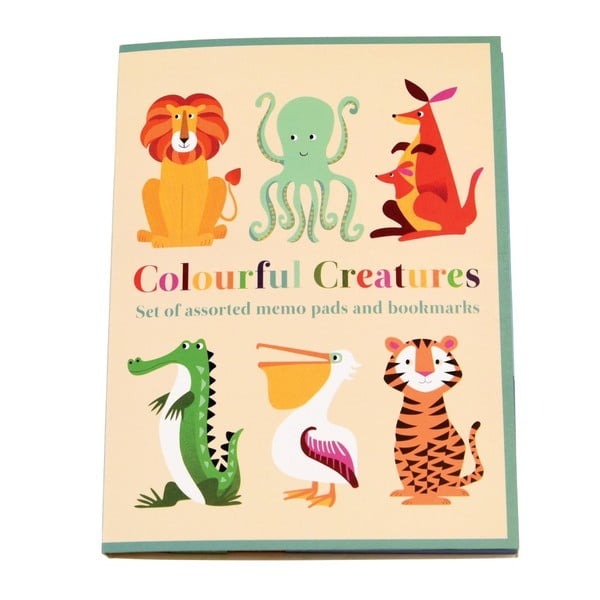 Set 7 blocuri autoadezive Rex London Colourful Creatures