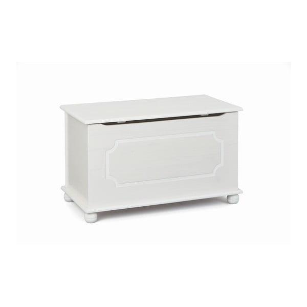 Cutie pentru jucării din lemn masiv de pin Interlink Emel, alb