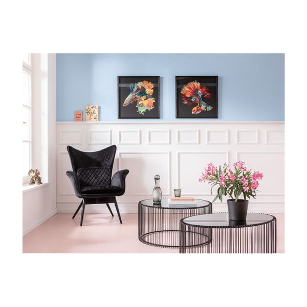 Nástěnný obraz vrámu Kare Design Betta Fish Colore Right, 65x65cm