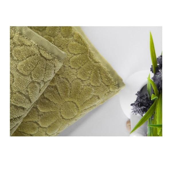 Sada 2 ručníků Samba Green, 50x90 cm a 70x140 cm