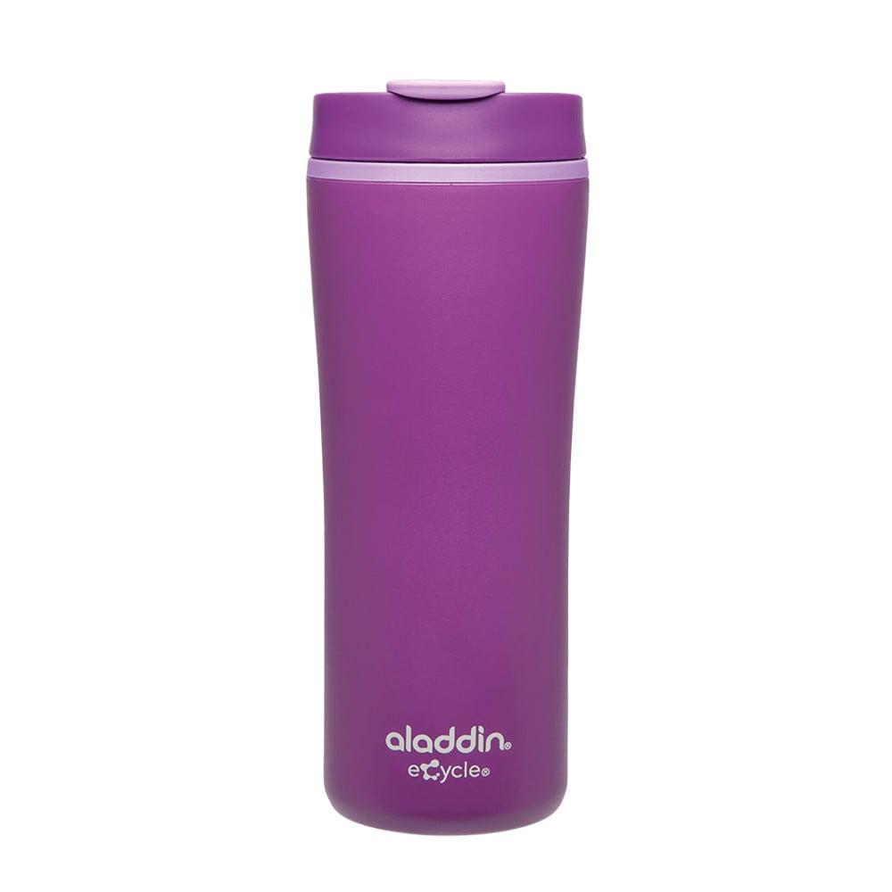 Fialový termohrnek z recyklovatelného plastu Aladdin Flip-Seal™, 350 ml