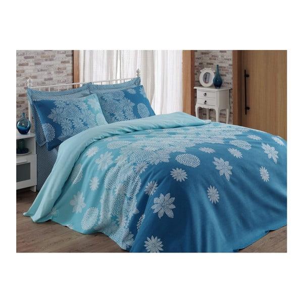 Niebieska narzuta na łóżko Adla, 200x235cm