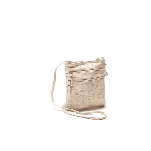 Kožená kabelka Carla Ferreri 2060 Beige