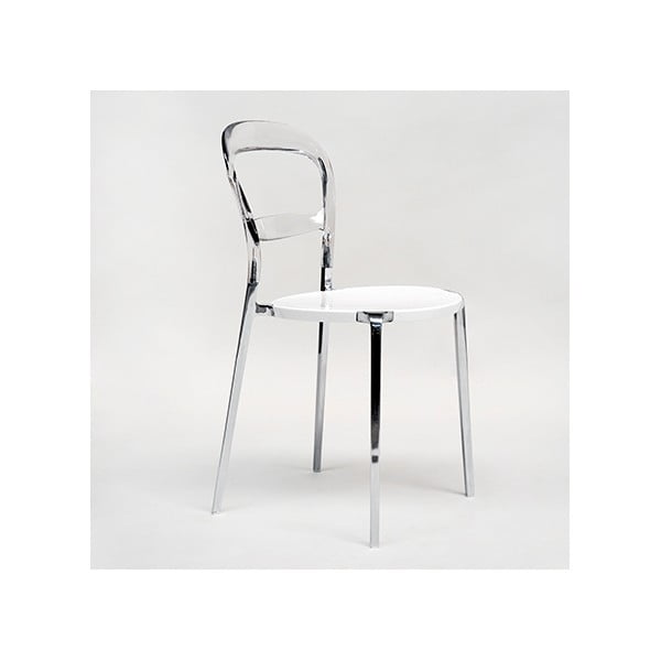 Židle Thalassa Alu Transaprent/White