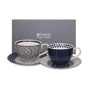 Set 2 căni cu farfurioară Tokyo Design Studio Cappuccino Scale/Web