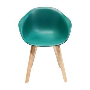 Sada 4 tyrkysových židlí Kare Design Forum