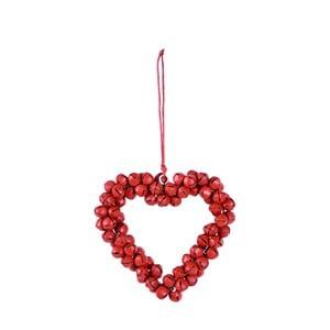 Závěsné dekorativní srdce z rolniček Ego Dekor Bells
