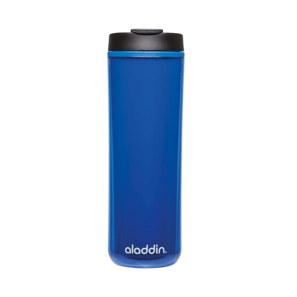 Modrý plastový termohrnek Aladdin s dvojitou stěnou, 470 ml