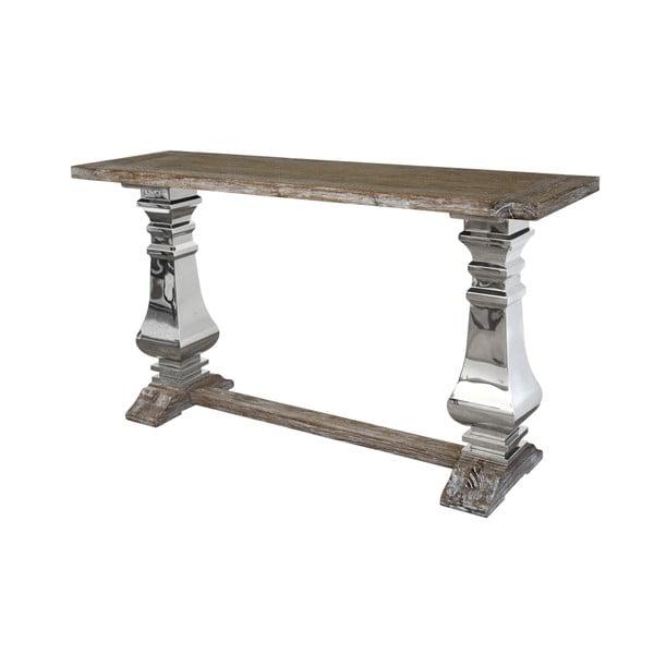 Konzolový stolek s deskou z recyklovaného dubového dřeva Livin Hill Glamour