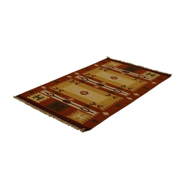 Ručně tkaný koberec Warm Brown Indians, 90x150 cm