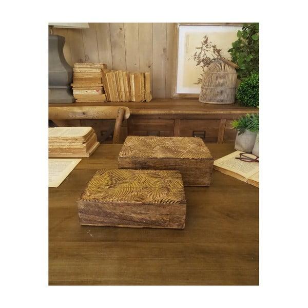 Set 2 cutii din lemn de mango Orchidea Milano Jungle