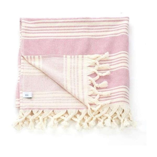 Hammam osuška Pestemal Pink Ivory