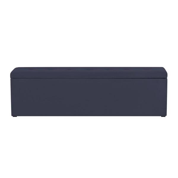 Tmav modrý otoman s úložným prostorem Windsor & Co Sofas Astro, 180 x 47 cm