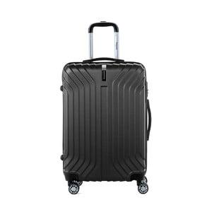 Černý cestovní kufr na kolečkách s kódovým zámkem SINEQUANONE Elisabeth, 71 l