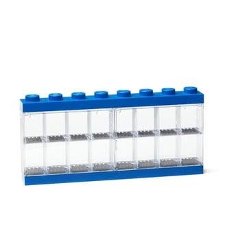 Cutie depozitare 16 minifigurine LEGO®, albastru de la LEGO®
