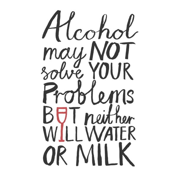 Plakát Karin Åkesson Design Alcohol Problems, 30x40 cm