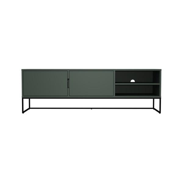 Masă TV cu picioare metalice Tenzo Lipp, lățime 176 cm, verde
