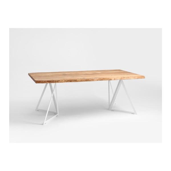 Jídelní stůl s deskou z dubového dřeva Custom Form Sherwood,200x100cm