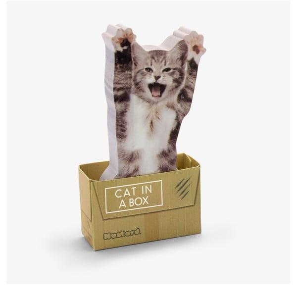 Cat in Box öntapadós jegyzettömb - Just Mustard