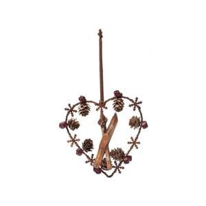 Závěsná dekorace Antic Line Heart Ornament