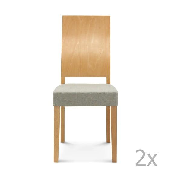 Sada 2 dřevěných židlí Fameg Daga