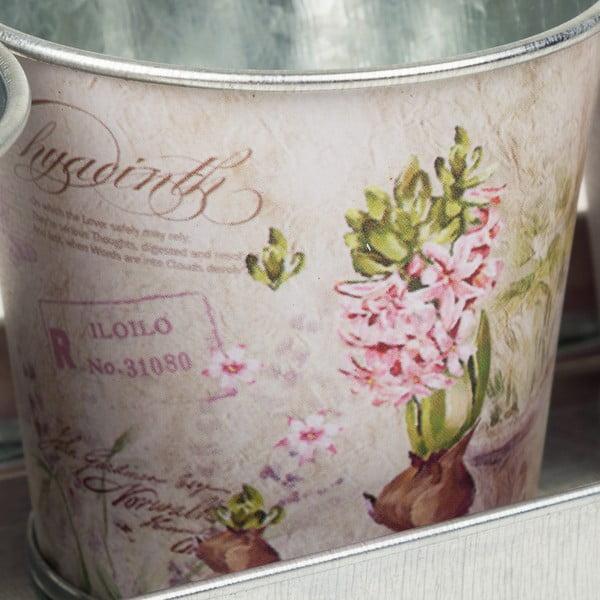 Set 3 găleți decorative cu tavă Gideon