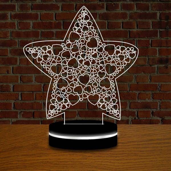 Lampa s 3D efektem Christmas no. 2