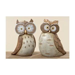 Sada 2 zahradních dekorací Hermine Owl