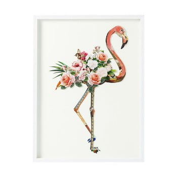 Tablou Kare Design Art Flamingo, 100 x 75 cm de la Kare Design