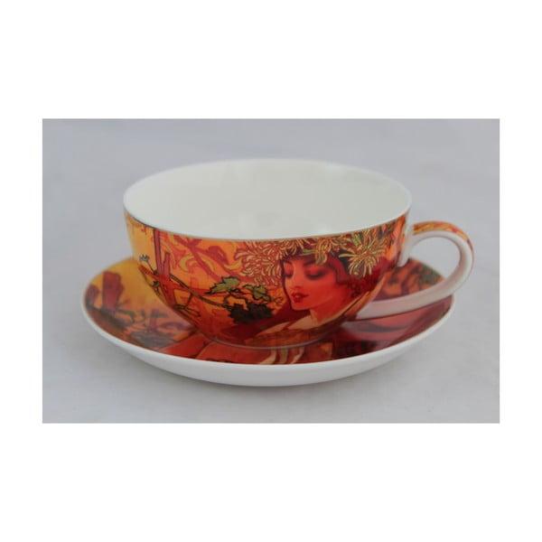 Alfons Mucha - šálek s podšálkem Podzim