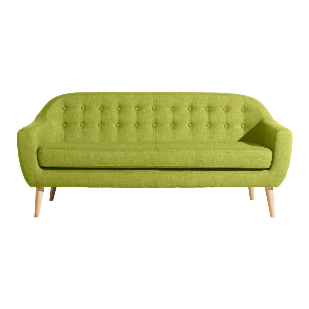 Světle zelená třímístná pohovka Max Winzer Kelly