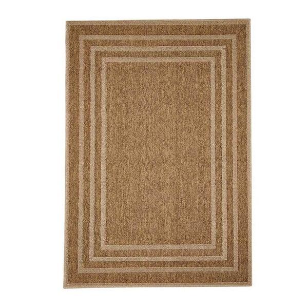 Hnědý venkovní koberec Floorita Border, 200 x 285 cm
