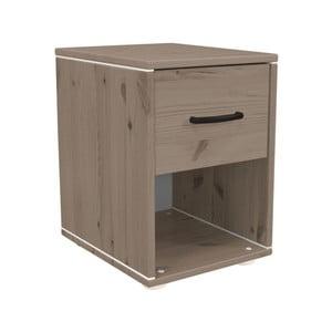 Hnědý dětskýnoční stolek z borovicového dřeva Flexa Classic