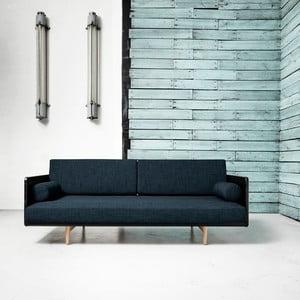 Canapea extensibilă Karup Deva Black/Raw Oak/Deep Blue
