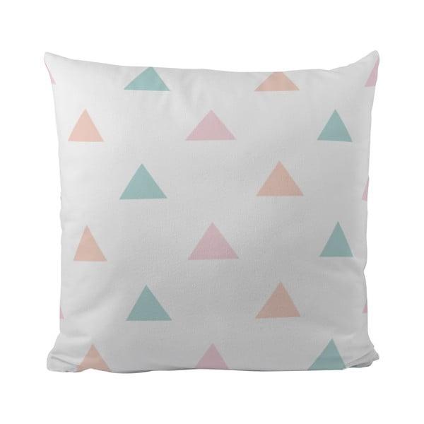Polštář Pastel Triangles, 50x50 cm
