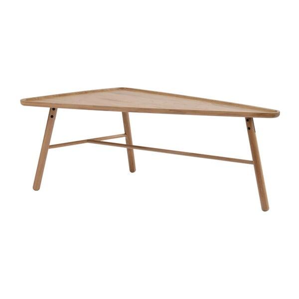 Masă triunghiulară din lemn de stejar Folke  Skadi