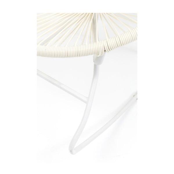 Bílé houpacé křeslo Kare Design Spaghetti
