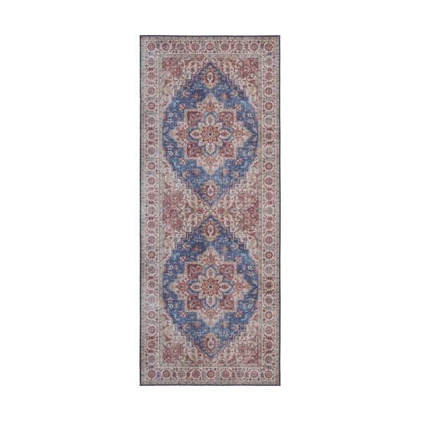 Covor Nouristan Anthea, 80 x 200 cm, albastru - roșu