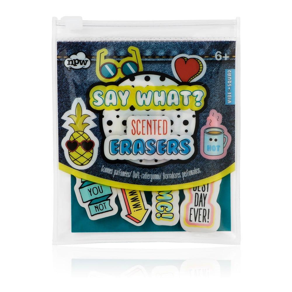 Sada 10 parfemovaných gum na papír NPW Erasers