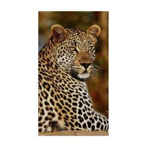 Plážová osuška s potiskem Good Morning Leopard, 100x180cm