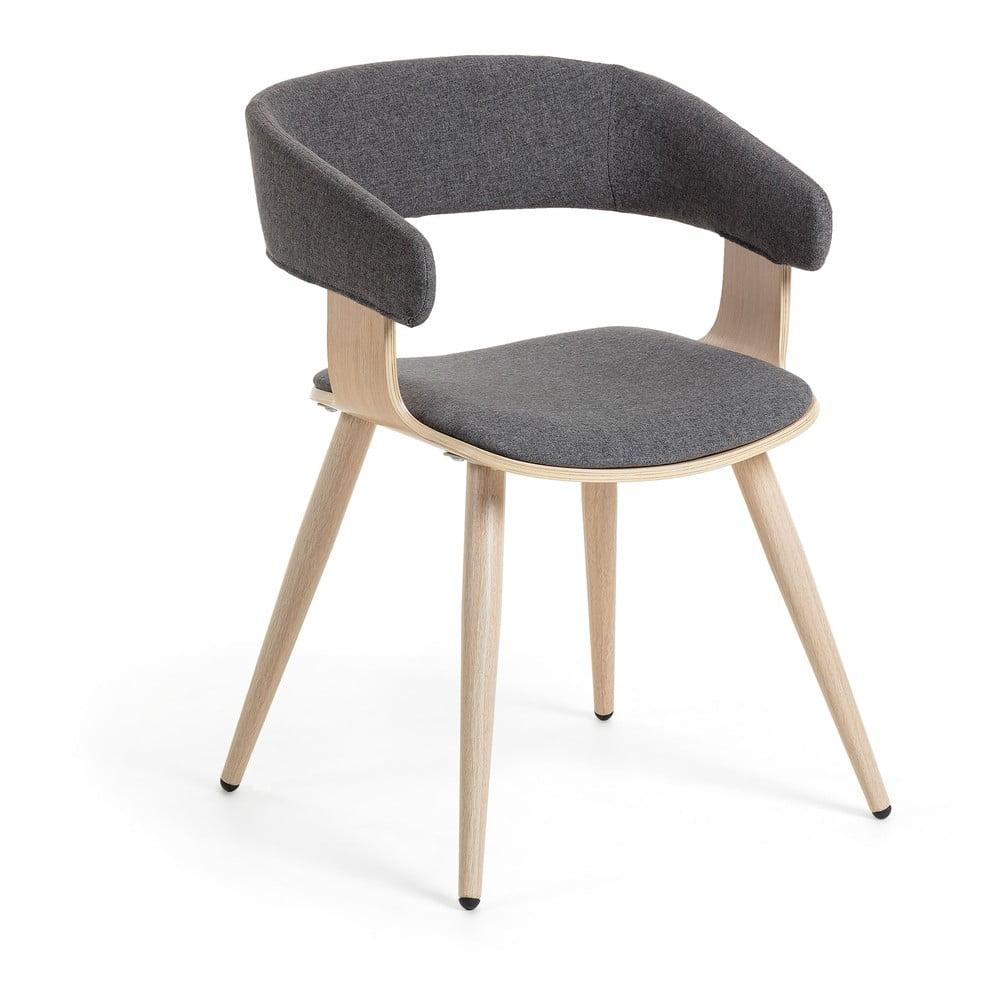 Šedá židle La Forma Heiman